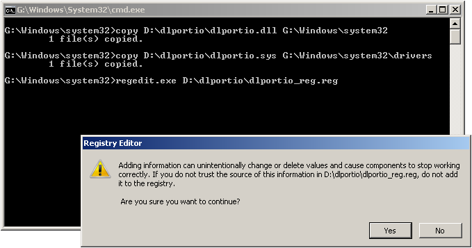 Registry update