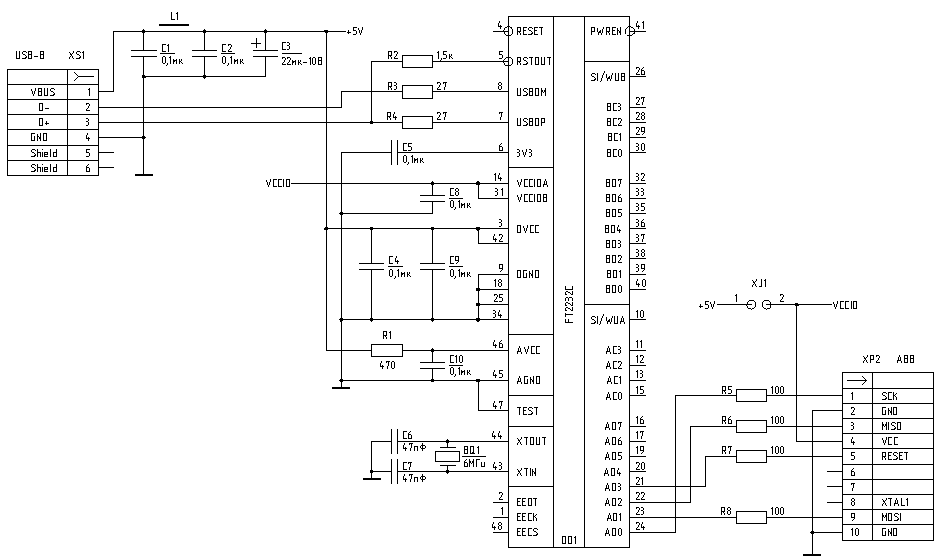 digilent jtag cable schematic usb