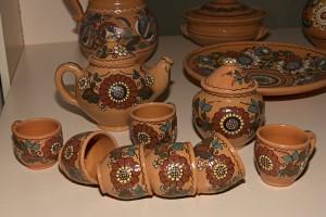 Керамічний чайний сервіз (учнівська робота, Опішня)