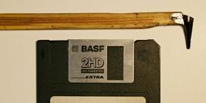 Писачок зі шторки 3-дюймової дискети