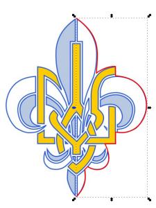 Емблема Пласту з зовнішнім контуром.